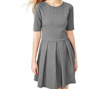 Gap Designed & Crafted Gray Pleated Skirt Dress XS